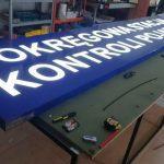 Okręgowa Stacja Kontroli Pojazdów Kaseton z Dibondu