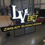 LV Bet Reklama Produkcja Litery Przestrzenne 3D